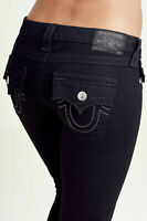 True Religion Women's Skinny Fit Black Stretch Jeans in Body Rinse