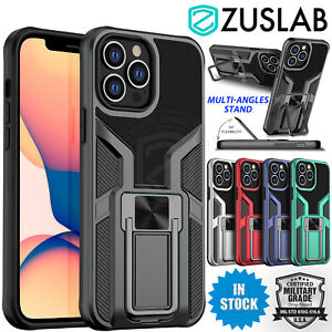 For Apple iPhone 13 Pro Max mini Case Zuslab Ring Stand Magnetic Shockproof Case