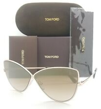 New Tom Ford Elise sunglasses FT0569 28G 65mm Rose Gold Brown Gradient Butterfly