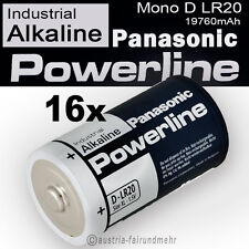 16x Mono D LR20 MN1300 Batterie PANASONIC POWERLINE INDUSTRIAL