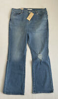 Levi's Women Jeans Classic Bootcut Distressed Light Wash Pants NEW NWT 34 X 32