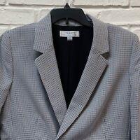 TAHARI Arthur S Levine Women's Blazer Jacket Sz 16 Houndstooth Lined Career NWT