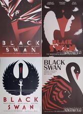 BLACK SWAN - RARE US SET OF 4 TEASER POSTERS -PORTMAN / LA BOCA / ART DECO DANCE