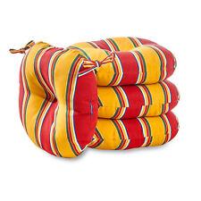 Set of 4 Carnival Stripe Outdoor Bistro Chair Cushion Patio Garden Furniture New
