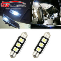 2x3SMD 38mm 39mm LED White Interior Light Festoon License plate Bulb 239 272 C5W
