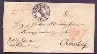 Vorphilabrief Bremen 1822 mit Schlüsselstempel nach Oldenburg mit Siegel (604)