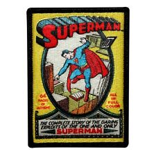 Retro Superman Comic Book Fan Patch No. 1 First Issue Superhero Iron-On Applique