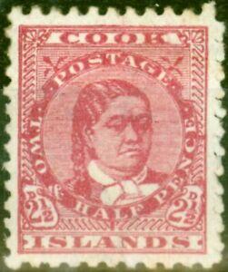 Cook Islands 1900 2 1/2d Deep Rose SG16a Good Mtd Mint