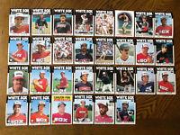 1986 CHICAGO WHITE SOX Topps COMPLETE Baseball Team SET 30 Cards FISKx2 SEAVER!