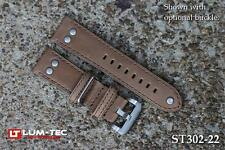 Lum-Tec Watches 22mm Ravenna Rivet Leather Strap - (Buckle NOT Included)