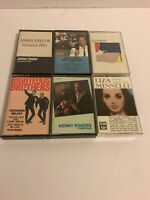 Lot Of Six Cassette Tapes James Taylor Huey Lewis Genesis Liza Minnelli And More