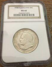 1936 Cleaveland Commemerative Half Dollar Ms66 Wow!