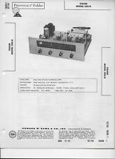 1961 PHOTOFACT Fisher FM AM Radio Receiver Tuner 100-R Manual #273