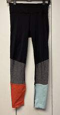 New listing LULULEMON Pedal To The Medal 7/8 Tight Color Block Black Alarming Tranquil 4