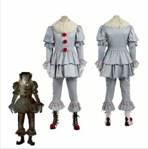 Halloween Cosplay Clown Men Outfit Stephen King IT Pennywise Adult Costume Suit