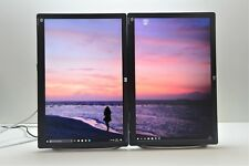 "2 x HP PC SCREEN L2245W TFT MONITOR 2x 22'' 44"" Widescreen LCD VGA DVI 1680x1050"