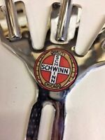 VINTAGE SCHWINN STYLE 40s AND 50s  BICYCLE 3 FLAG HOLDER - FREE FLAGS