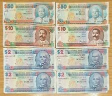 More details for job lot barbados banknotes 50 10 2 dollars