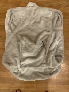Pottery Barn Kids MY FIRST ANYWHERE Chair Gray Faux Fur Monique SLIPCOVER COVER