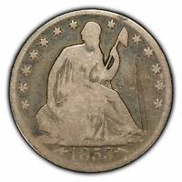 1853-O 50c Seated Liberty Half Dollar - Arrows & Rays - SKU-H1083