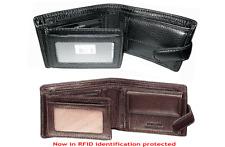 Pierre Cardin - Men's Bi-fold Wallet-Genuine Italian Leather-Black-Brown-PC8874