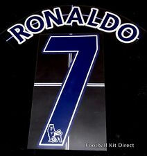 Manchester United Ronaldo 7 Name/Number Set Football Shirt Lextra 07-13 Away