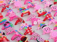 10/20/30 Wholesale Mixed Lots Cartoon Girl Children Kids Party Rings Jewelry