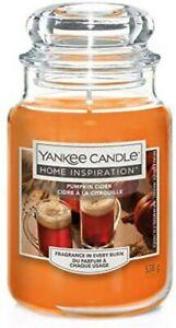 Yankee Candle Home Inspiration Large Jar Pumpkin Cider New Halloween