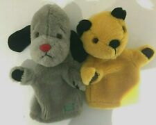 SOOTY & SWEEP PLUSH HAND PUPPETS SOFT TOYS BBC CHILDREN'S TV SHOW VGC Q52