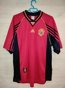 SPAIN 1998-99  HOME SHIRT ADIDAS JERSEY SOCCER SIZE L