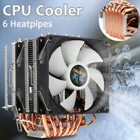 For LGA 1150/1151/1155/1156/1366/775/AMD 2 Heatpipe 90mm CPU Cooler New W!