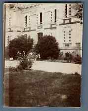 France, Pays Basque, Attelage avec âne  Vintage citrate print.  Tirage citrate