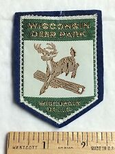 Wisconsin Deer Park Wisconsin Dells Souvenir Woven Felt Patch Badge