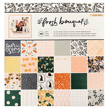 """Crate Paper Fresh Bouquet Paper Pad 12"""" x 12"""" by Maggie Holmes Craft Supplies"""