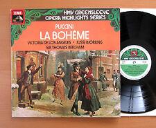 ESD 7023 Puccini La Boheme Highlights Los Angeles Bjorling Beecham HMV Stereo