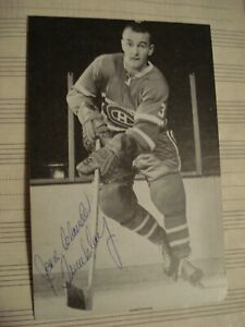 Jean Claude Tremblay signed B&W post card