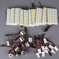 PACK OF 10 Xenon White 48-SMD LED Panel Interior Dome Map Light +BA9S+T10MIR USA