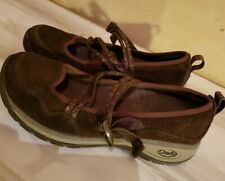 CHACO CLARA Women's Tan Nubuck Flats Slip On Shoes - Sz 7 - 7.5