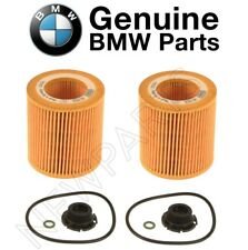 For BMW F10 F22 F30 F32 E84 E89 Set of Two Oil Filter Kits Genuine 11427640862