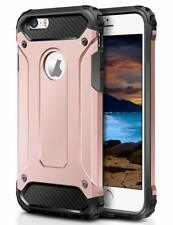 For iPhone 5 5S & iPhone SE Case - Dual Layer Hybrid Shockproof Hard Armor Cover