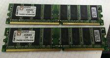 2x Kingston KFJ2813/512 512MB DDR1 DIMM PC2700 Memory Modules - FREE SHIP
