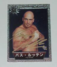 BAS RUTTEN SIGNED AUTO'D 1997 BBM CARD #SF76 KING OF PANCRASE UFC 18 20 HOF RARE