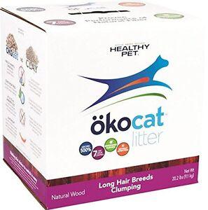 Okocat Natural Wood Cat Litter, 20.2-Pound, Clumping For Long Hair Breeds