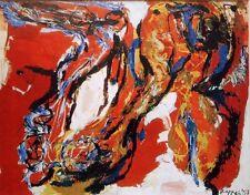 """KAREL APPEL mounted vintage print, Stedelijk 1965, COBRA art brut 12 x 10"""" KS2"""