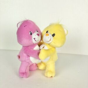 "Care Bears 7"" Attatched Hugging Plush Take Care Bear And Birthday Bear 2003"