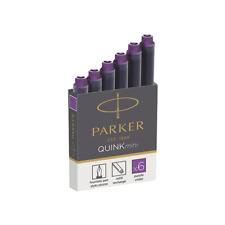 Parker Quink Mini Ink Cartridges Purple 6 Pack 1950410