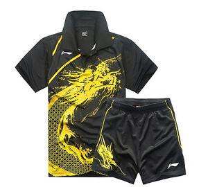 Li Ning Table Tennis Tops men clothing Sports tennis T shirts +shorts
