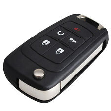 New 5 Button Flip Remote Key Fob Case Shell for Chevrolet Camaro Cruze Equinox
