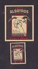 Ancienne étiquettes Allumettes Belgique BN22440 Café Albatros Bateau