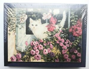 NEW 550 PC  Bits and Pieces SUMMER WINDOW cat Jigsaw Puzzle #01-0484 18' x 24'